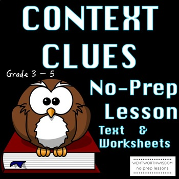 Context Clues Literacy Reading Skills Activities