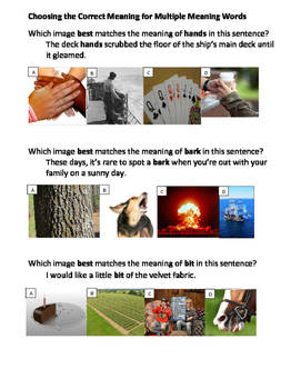 Context Clues Multiple Meaning Words with Visual Literacy