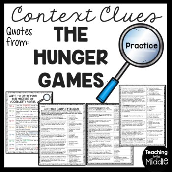 Context Clues Practice #2, Middle School, ELA Test Prep, T