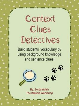 Context Clues Practice Activity for 3rd Grade (The Walshie