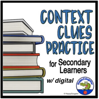 Context Clues Worksheet - Middle School and High School