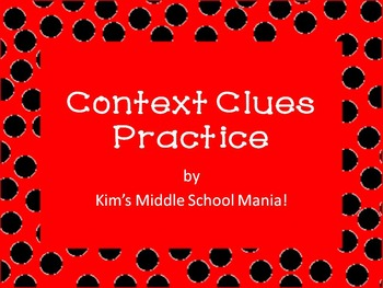 Context Clues Practice Worksheet