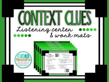Context Clues- QR Listening Center and Work Mats