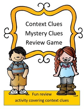 Context Clues Reading Review Game: Mystery Clues