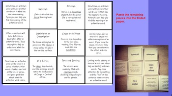 Context Clues, Story Elements and Genres