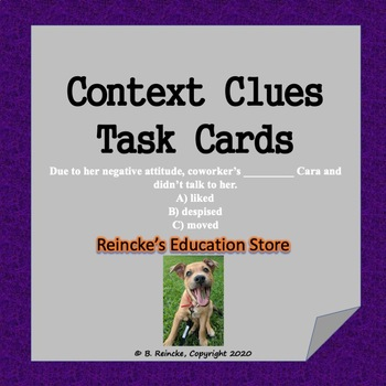 Context Clues Task Cards (32 Fill-in-the-Blank!)