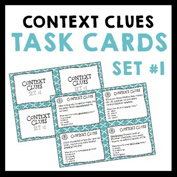 Context Clues Task Cards for Inferring Vocabulary - Set #1