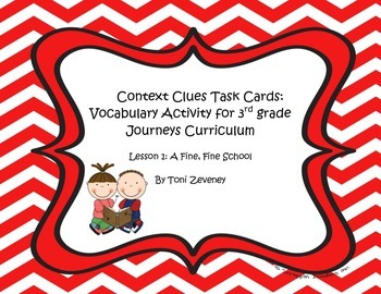 Context Clues Task Cards for Journeys 3rd Grade