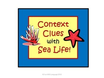 Context Clues Task Cards with Sea Life, Ocean Creatures, f