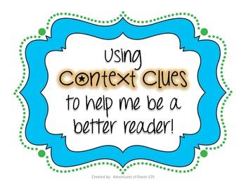 Context Clues Tips Anchor Chart