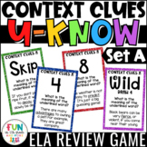Context Clues Game for Literacy Centers: Vocabulary Game