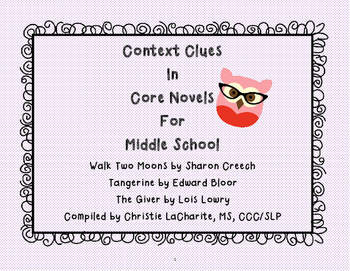 Context Clues for Core Novels in Middle School