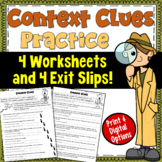 Context Clues worksheets (focusing on 4 types of clues)