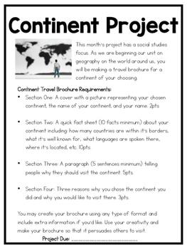 Continent Brochure Project