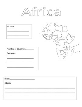 Continent Information Gathering Form-Africa