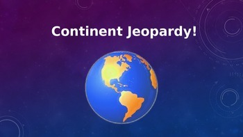 Continent Jeopardy Game