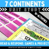 3rd Grade Social Studies Continent Study Unit