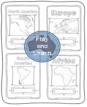 Continents Bundle - Maps and Flags for every country of the world