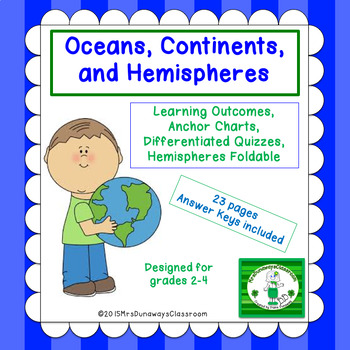 Continents, Oceans, and Hemispheres