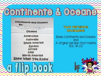 Continents and Oceans - Flip Book