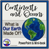 Continents and Oceans Geography PowerPoint, Interactive Qu