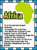 Continents and Oceans ~ Set of 12 Informational Posters (C