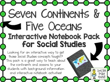 Continents and Oceans of the World ~ Social Studies Intera