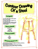 Contour Line Drawing Stool Project