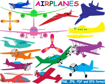 Contour aircraft color Aviation clip art plane fly flying