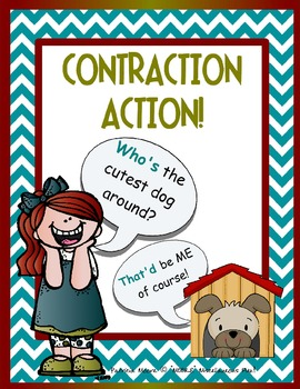 """""""Contraction Action"""" Booklet with 7 practice sheets!"""