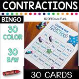 Contraction BINGO - 30 Cards (Includes Black and White cards)