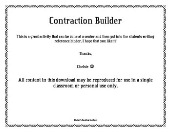 Contraction Builder