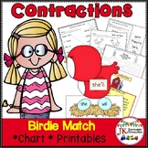 Contraction Game: Birdie Contraction Game for Literacy Centers