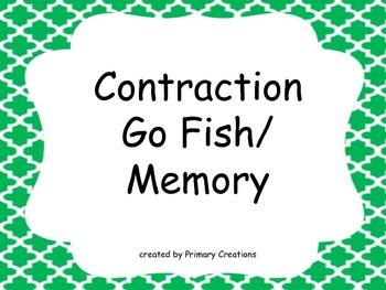 Contraction Go Fish/ Memory