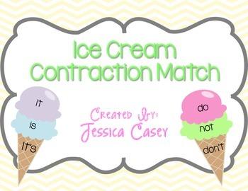 Contraction Ice Cream Activity