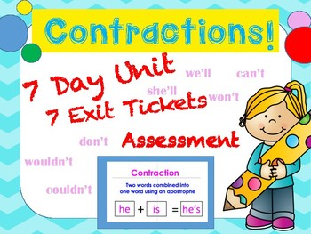 Contraction Lesson Pack: Flipchart, Worksheets, Assessment