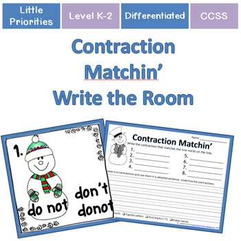 Contraction Matchin' Write the Room