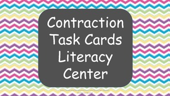 Contraction Task Cards Common Core Aligned Literacy Center