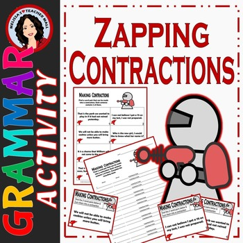Contraction Activity, Turn 2 Words into a Contraction