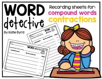 Contractions & Compound Words - Recording Sheets for any Book