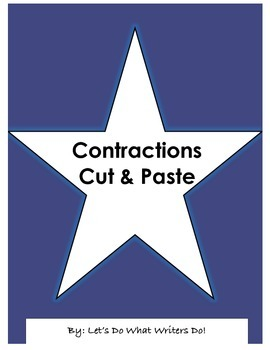 Contractions Cut and Paste!