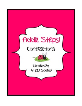 Contractions Fiddle Strips! Game