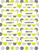 Contractions Flash Cards, Games, or Sorts