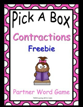 Contractions FREE Partner Game - No Prep