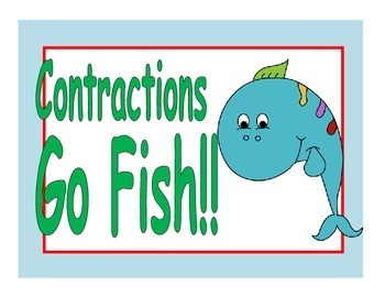 Contractions Go Fish Game