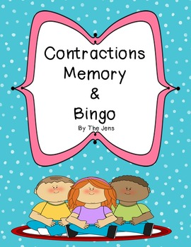 Contractions Memory (***BONUS*** Contractions Bingo)
