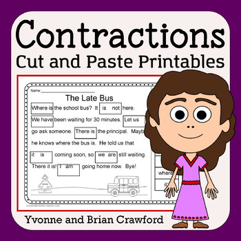 Contractions Cut and Paste Printables