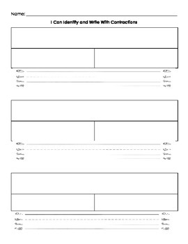 Contractions Puzzles Worksheet/Extension