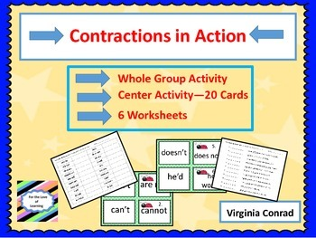Contractions in Action--Activity, Worksheets, and Center