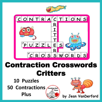 CONTRACTIONS   Vocabulary   Lists   CROSSWORD PUZZLES   Gr
